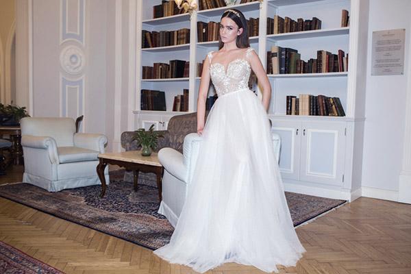 שמלת כלה נפוחה רומנטית