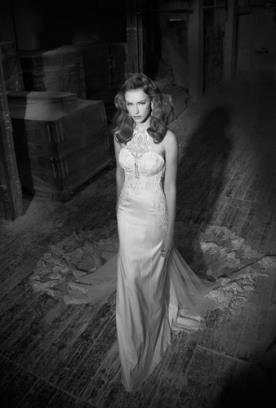 שמלת כלה צווארון קולר תחרה