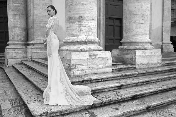 שמלת כלה גב אלגנטי עשיר