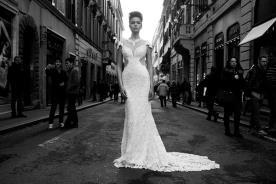שמלת כלה נועזת שקיפויות בצדדים