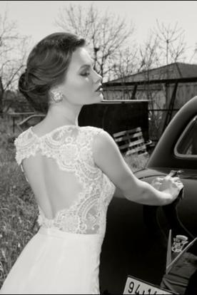 שמלת כלה גב פתוח עיגול