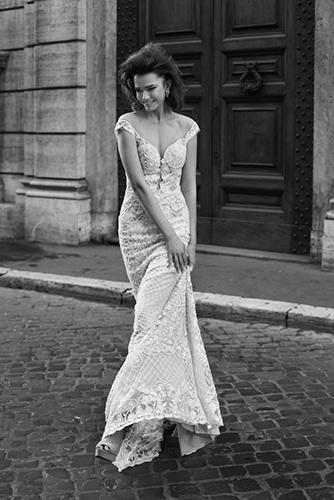 שמלת כלה אוף שולדר כתפייה עבה
