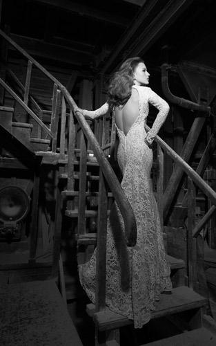 שמלת כלה וינטג' שרוולים