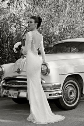 שמלת כלה גב פתוח שרשרת חרוזים