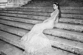 שמלת כלה חרוזים עשירה גב פתוח