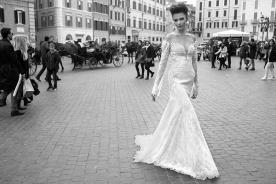 שמלת כלה אוף שולדר ארוך אלגנטי