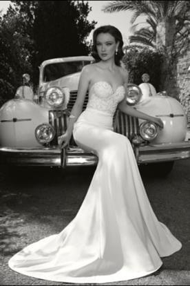 שמלת כלה מחוך סטרפלס אלגנטי