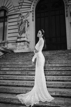 שמלת כלה אלגנטית שרוול ארוך