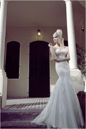 שמלת כלה סטרפלס עשירה