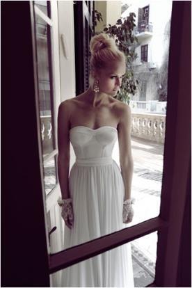 שמלת כלה אלגנטית סטרפלס