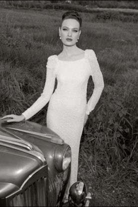 שמלת כלה שרוול ארוך רומנטית
