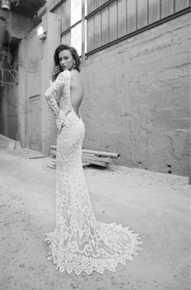 שמלת כלה גב פתוח שובל מיוחד