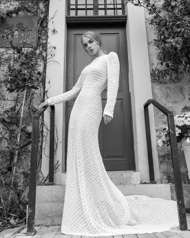 שמלת כלה צנועה שרוול ארוך