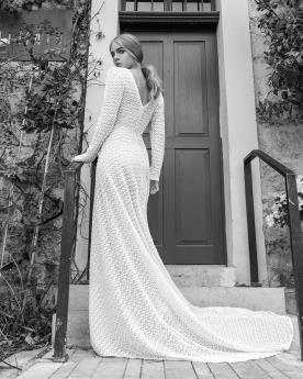 שמלת כלה מתחרה עם שרוול ארוך