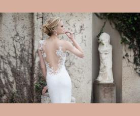 שמלת כלה גב תחרה פתוח מעוטר