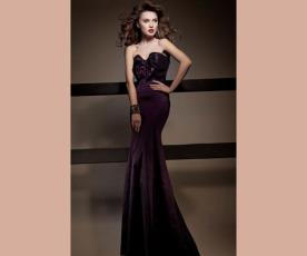 שמלת ערב סטרפלס ארוכה