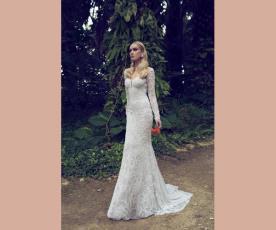 שמלת כלה שרוולים ארוכים עשירה