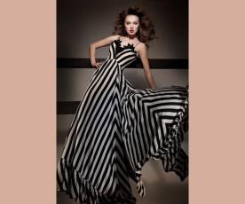 שמלת ערב פסים