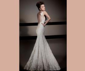 שמלת כלה עדינה גב פתוח