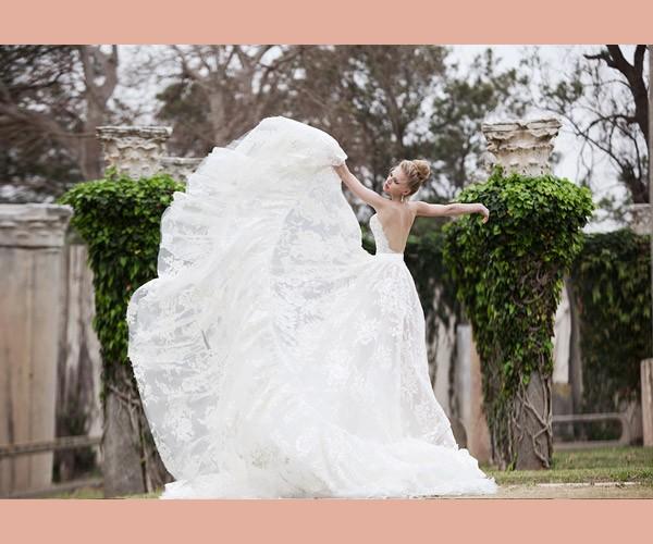 שמלת כלה תחרה מתרחבת עשירה