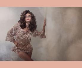 שמלת ערב מיני תחרה שקופה שרוול