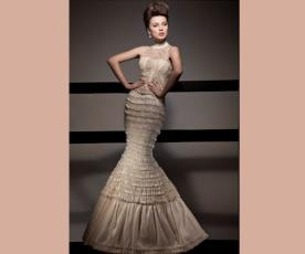שמלת כלה צבע מיוחד בת ים