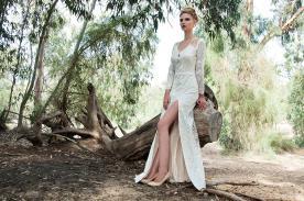שמלת כלה חורפית עם נגיעת זוהר