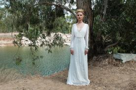 שמלת כלה שיפון עם נגיעת זוהר
