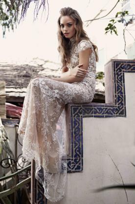שמלת כלה תחרה ניוד קלאסית
