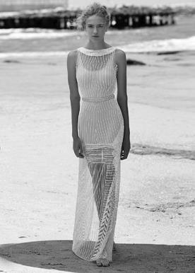 שמלת כלה חרוזים בעיצוב עכשווי