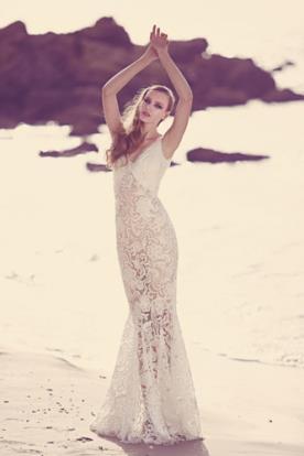 שמלת כלה תחרה בגזרת בת ים