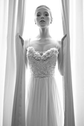 שמלת כלה מקסי עם טופ מעוטר