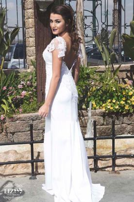 שמלת כלה שרוולי תחרה מיוחדים