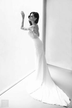 שמלת כלה בסגנון קלאסי נשי