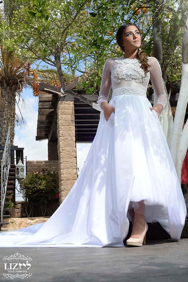 שמלת כלה חורפית מרשימה