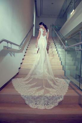 שמלת כלה רומנטית למראה נשי