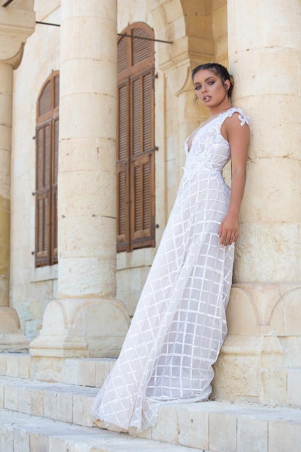 שמלת כלה עם ריבועים