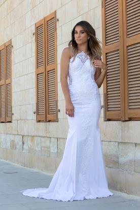 שמלת כלה עדינה תחרה ומשי