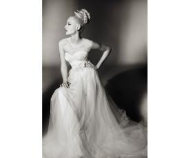 שמלת כלה  אורגנזה למראה מלכותי