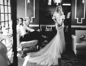 שמלת כלה שובל טול רך