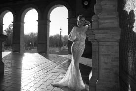 שמלה בסגנון רומנטי לכלה