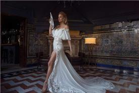שמלת כלה עם שרוולים קצר