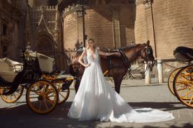 שמלת כלה נסיכתית משיפון רומנטי