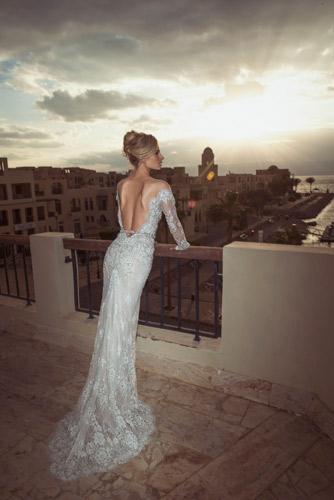 שמלת כלה ארוכה עם שרוולים
