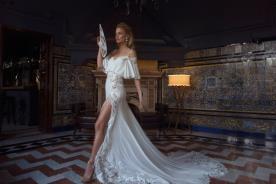 שמלת כלה בסגנון רומנטי מעוטר