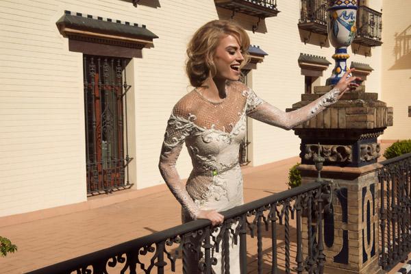שמלת כלה נוצצת בסגנון וינטג'