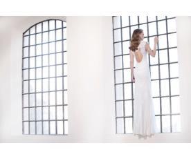 שמלת כלה מסגרת תחרה בגב