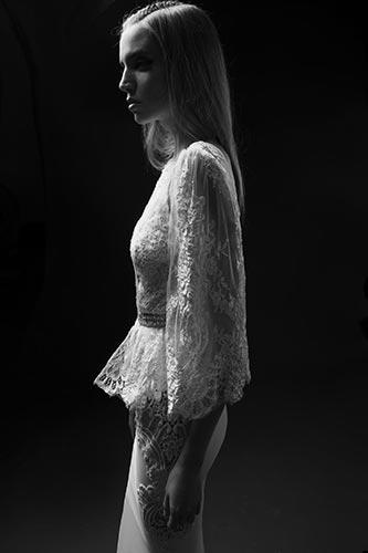 שמלת כלה צנועה בוהו שיק