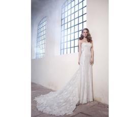 שמלת כלה תחרה למראה מלכותי