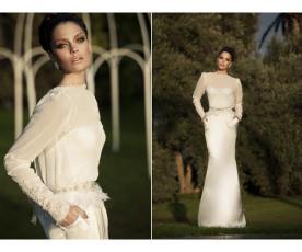 שמלת כלה עדינה למראה צנוע וקסום